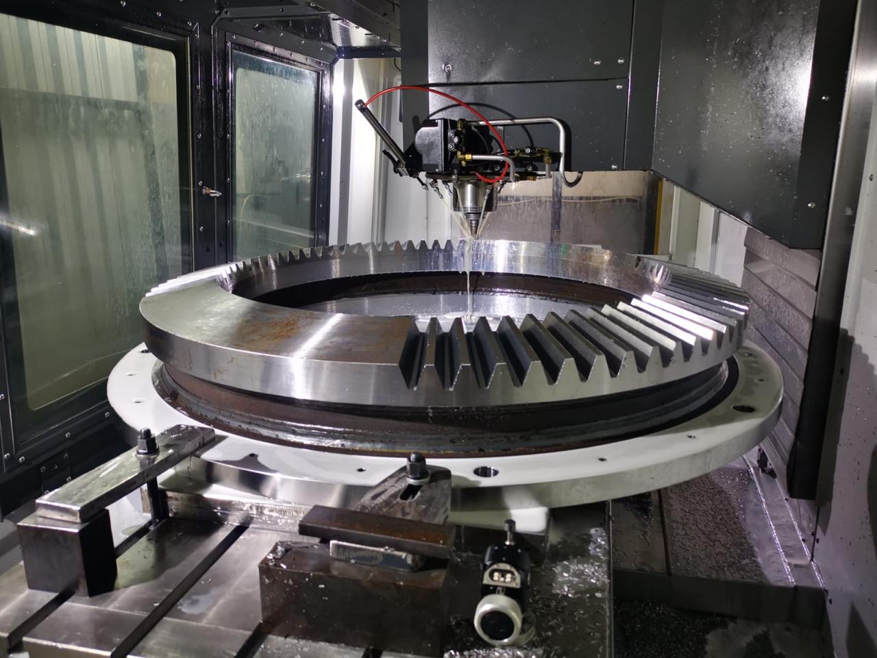 Walzwerk Zahnkranz auf der CNC Maschine